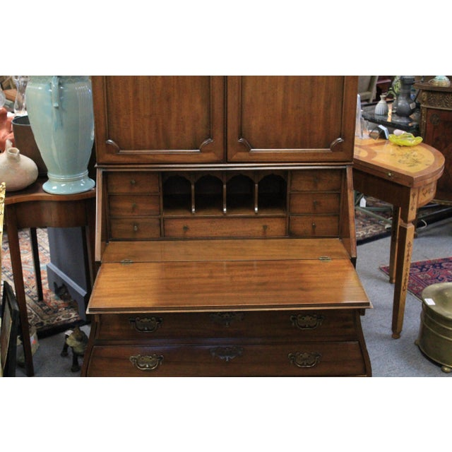 Chippendale 1968 Chippendale Drexel Secretary For Sale - Image 3 of 11
