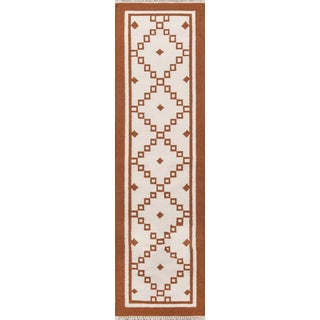 """Erin Gates Thompson Langley Rust Hand Woven Wool Runner 2'3"""" X 8' For Sale"""