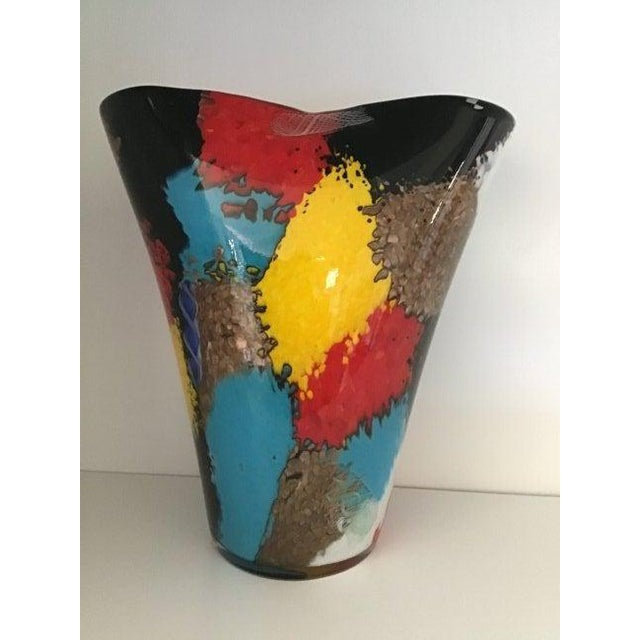 Dino Martens Dino Martens for Aureliano Toso Murano Oriente Patchwork With Pinwheel Vase For Sale - Image 4 of 7