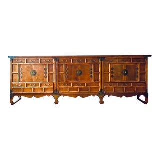 Michael Taylor for Baker Furniture Asian Ming Sideboard Buffet - 8' For Sale