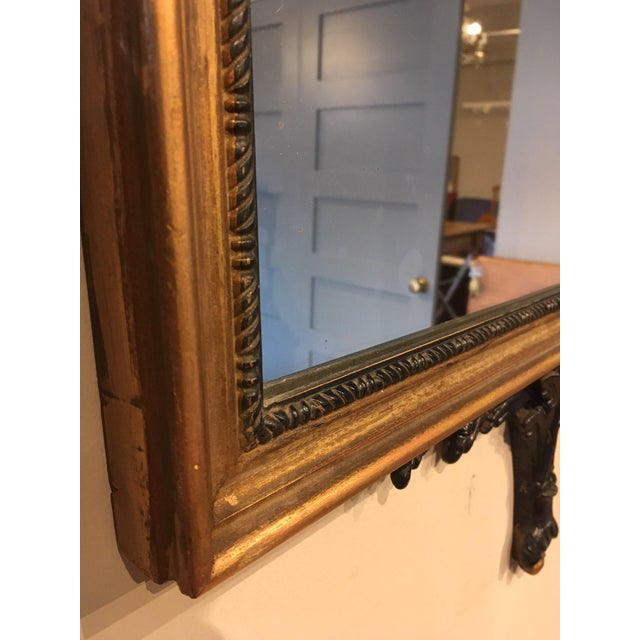 Vintage Chippendale Style Wall Mirror For Sale - Image 4 of 8