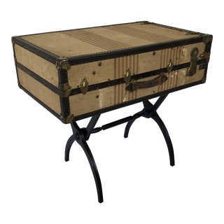 Repurposed Luggage Side Table