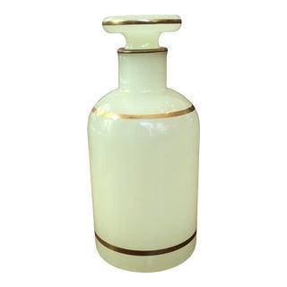 Yellow Opaline Glass Bottle For Sale