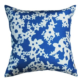 Cornflower Ditzy Floral Pillow Cover by Kate Roebuck For Sale