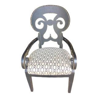 Black Lynx Arm Chair For Sale