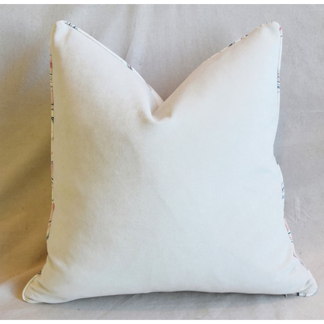 "Modern Blush-Pink Marbleized Feather/Down Pillows 22"" Square - Pair For Sale - Image 10 of 13"