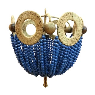 Mayfair Blue Bead Chandelier
