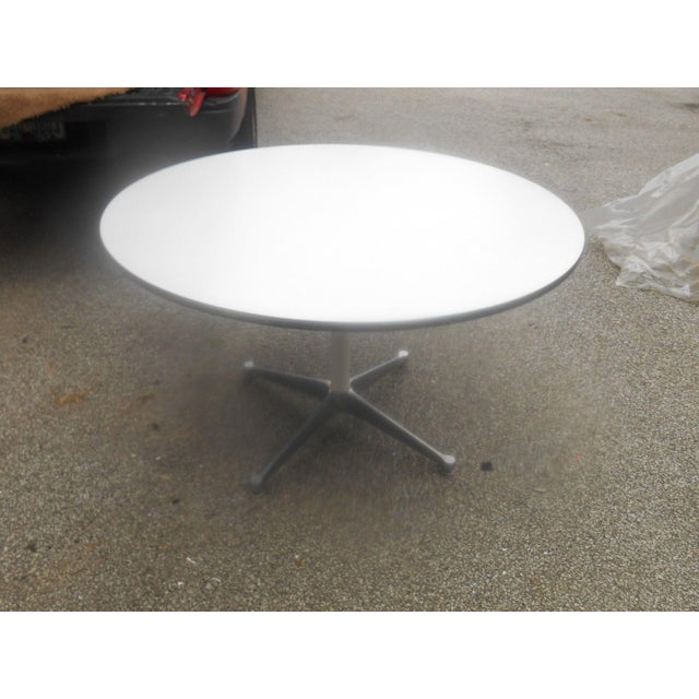 White Bruno Mathsson for Dux Chairs & Herman Miller Table For Sale - Image 8 of 11