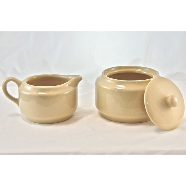 Bisque Cafe Ware Cream & Sugar For Sale - Image 4 of 6