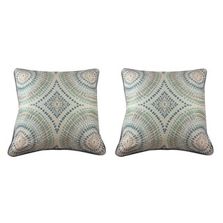 Kravet Couture Pillows in Painted Mosaic Design - a Pair For Sale