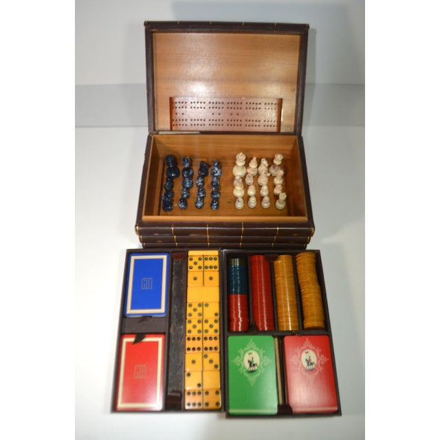 Vintage Game Set in Book Shaped Box For Sale - Image 12 of 12