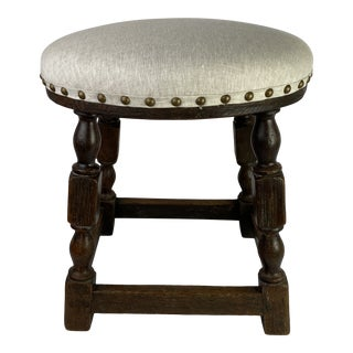 Mid 19th Century English Oak Stool For Sale