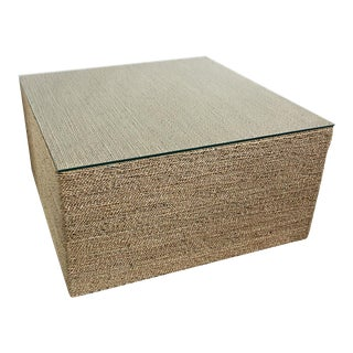 Square Seagrass Rope Coffee Table For Sale