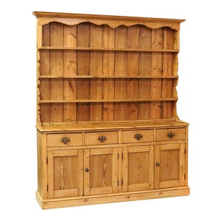 Early 19th Century English Pine Welsh Dresser For Sale