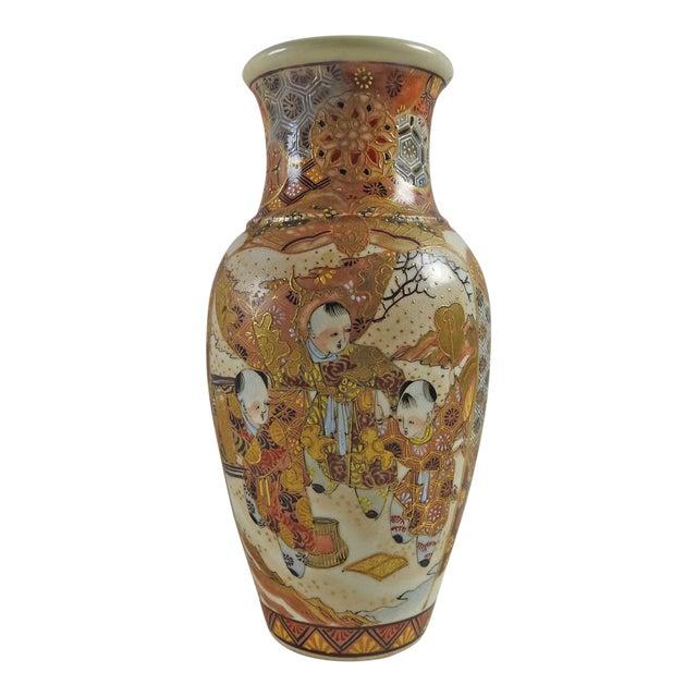 Antique Hand Painted Satsuma Vase Chairish