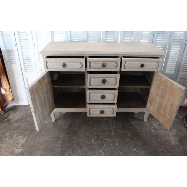 Metal 20th Century Shabby Chic French Style Painted Sideboard For Sale - Image 7 of 10