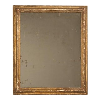 Circa 1800 Rustic Original Antique French Gilded Mirror For Sale