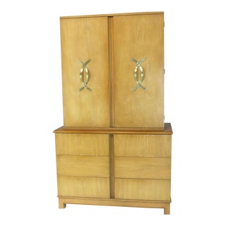 Mid-Century Modern Tall Gentleman's High Chest For Sale