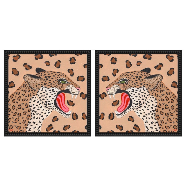"""Large """"Cheetahs, a Pair"""" Print by Willa Heart, 52"""" X 26"""" For Sale"""