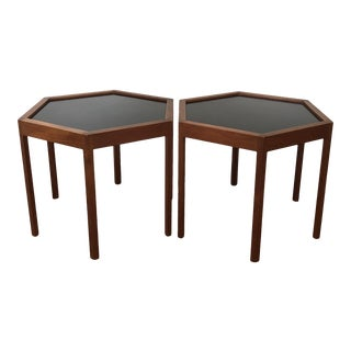 1950s Danish Modern Hans Andersen Hexagon Side Tables - a Pair For Sale