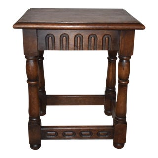 Jacobean Style English Stool For Sale