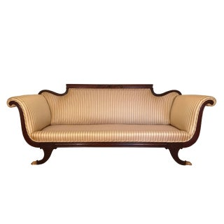 1900s Vintage Duncan Phyfe Style Sofa For Sale