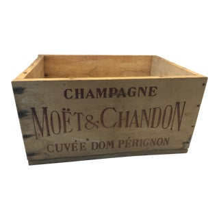 Vintage Dom Perignon Champagne Crate