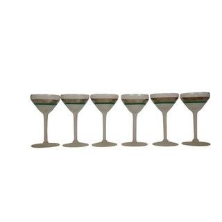 Antique Glam Art Deco Martini Glasses - Set of 6 For Sale