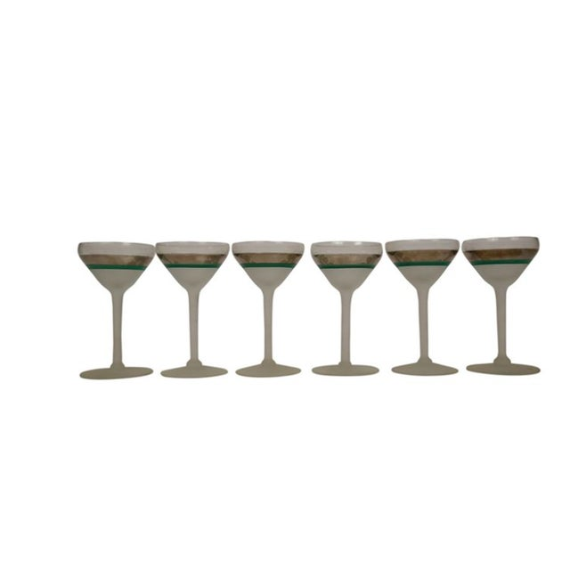 Antique Glam Art Deco Martini Glasses - Set of 6 For Sale