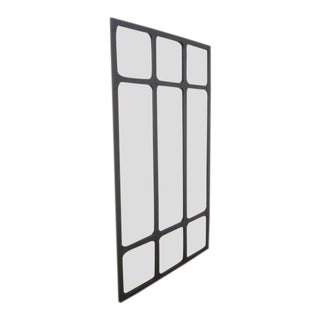 Large Industrial Heavy Wrought Iron Mirror For Sale