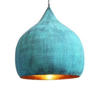 Copper Hammered Pod Lantern XL