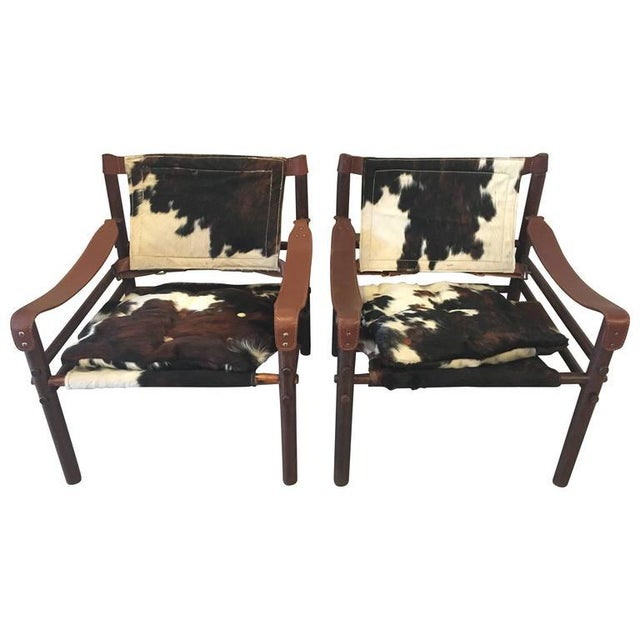"""Arne Norell """"Sirocco"""" Safari Chairs - A Pair - Image 1 of 5"""