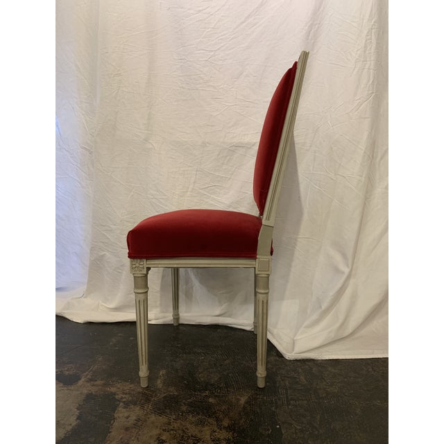 Louis XVI Style Dining Chairs Set of 4 For Sale - Image 4 of 6