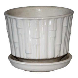 Vintage Mid Century McCoy Pottery Bamboo Planter For Sale