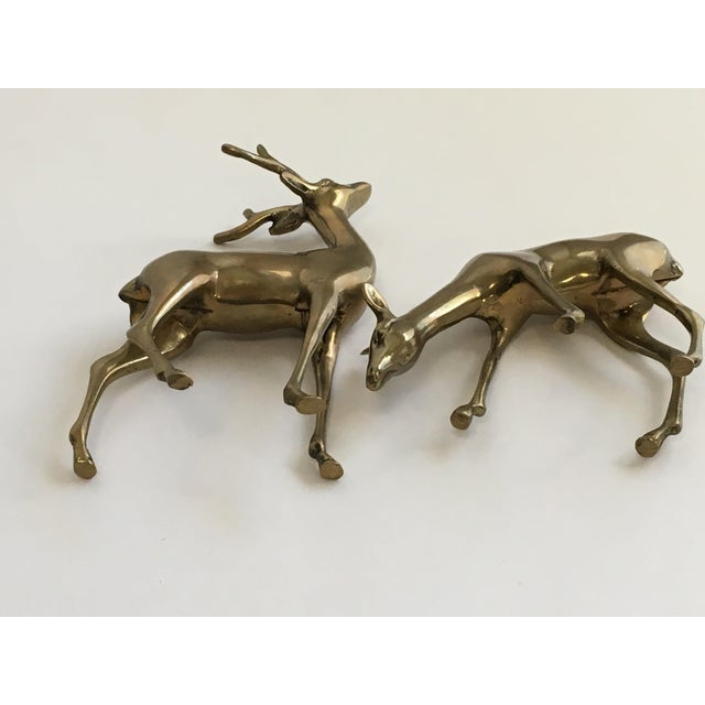 Brass Deer Figurines - A Pair - Image 7 of 7