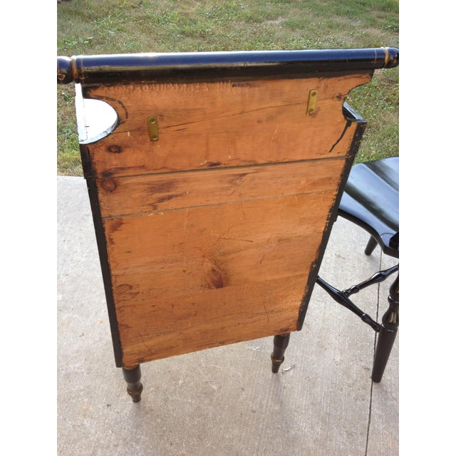Enamel Pre-Civil War Hitchock Wash Stand For Sale - Image 7 of 8