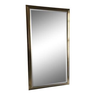 Restoration Hardware Brass Framed Mirror For Sale