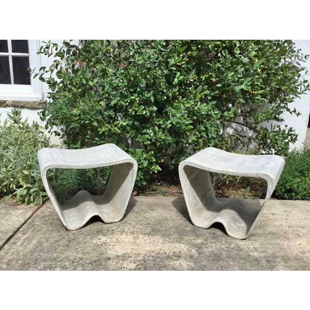 1960s Mid Century Guhl Wasler Cement Garden Stools - a Pair For Sale - Image 10 of 10