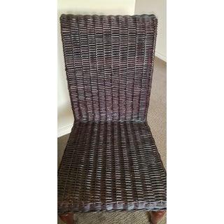Restoration Hardware Black Wicker Chair Preview