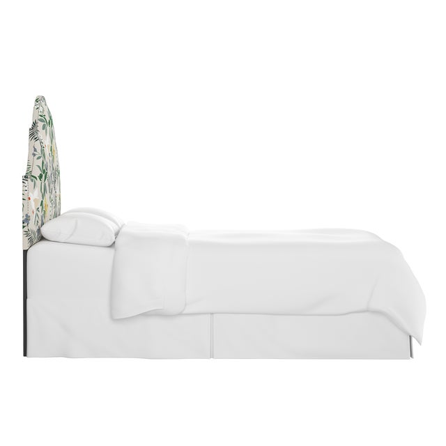Transitional Queen Headboard, Belize Chinoiserie Cream For Sale - Image 3 of 7
