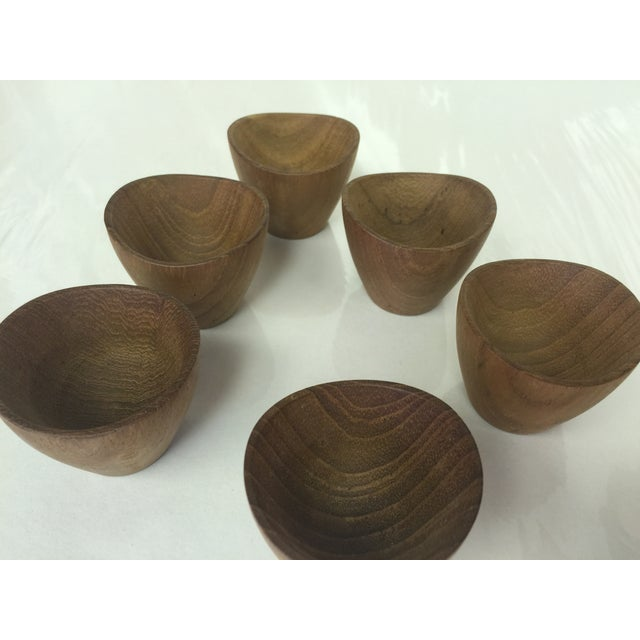 Ernst Henriksen Tiny Danish Teak Bowls - Set of 6 - Image 8 of 11