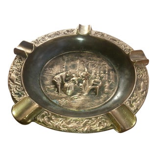 """The Pub Scene"" Solid Brass Ashtray"