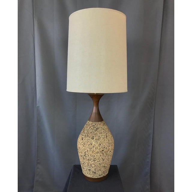 Monumental, 1970s Cork Lamp For Sale - Image 4 of 13