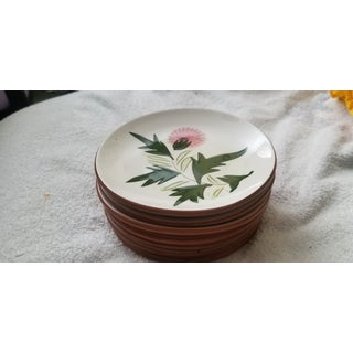 """Mid 20th Century Stangl """"Thistle"""" Dessert Plates - Set of 8 Preview"""