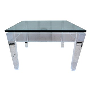 1970's Signed Plexiglas Coffee Table For Sale