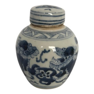 Chinese Blue & White Porcelain Ginger Jar