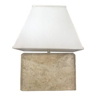 Rectangular Coral Rock Table Lamp For Sale