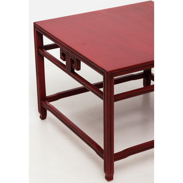 Red Michael Taylor for Baker Far East Red Occasional Table For Sale - Image 8 of 9