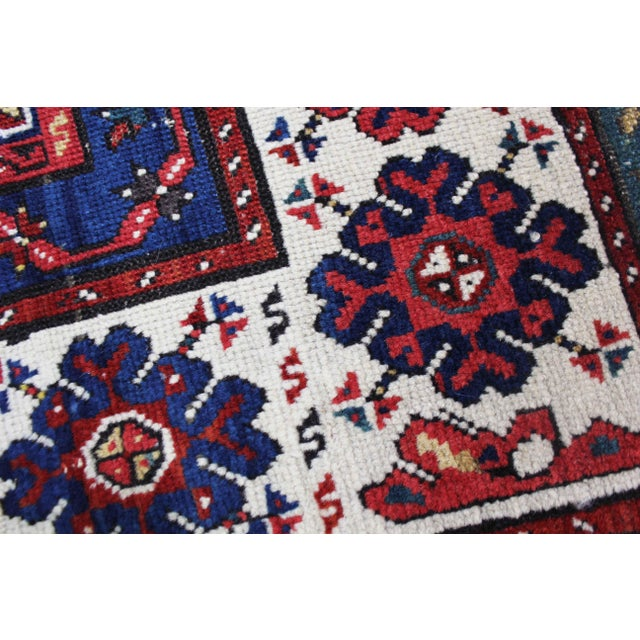 Late 19th Century Antique Hand-Knotted Talish Kazak Rug - 3′4″ × 8′4″ For Sale - Image 12 of 12