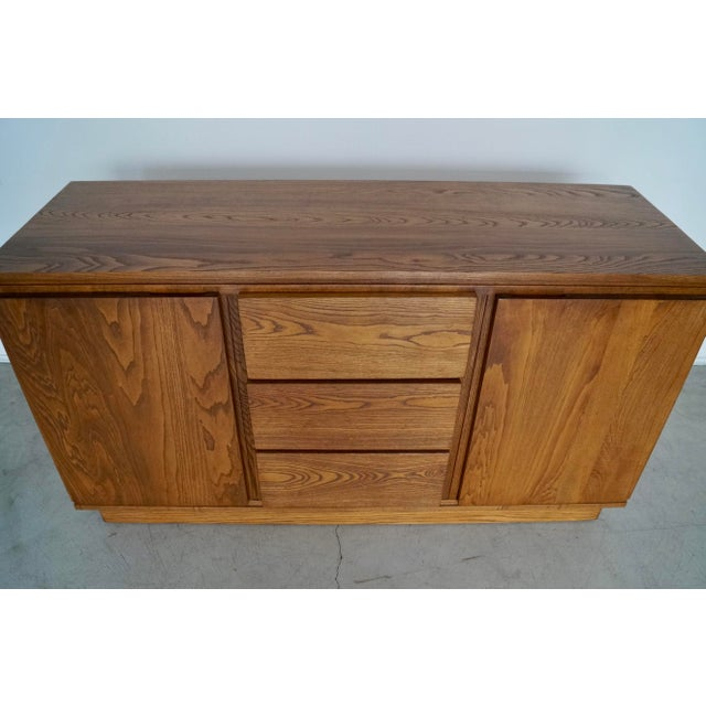 Brown 1940s Danish Modern Refinished Sideboard For Sale - Image 8 of 13